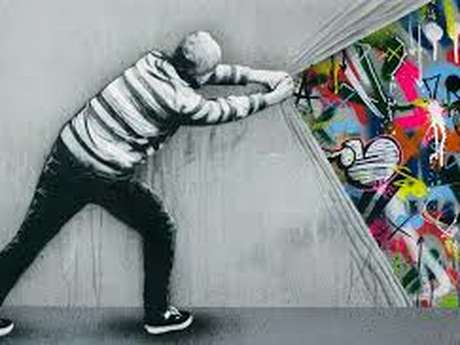 Paysage graffé
