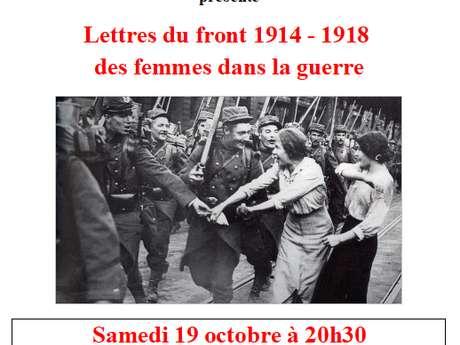 """Théâtre """"Paroles de Poilus Lettres du front 1914/1918 - des femmes dans la guerre"""""""