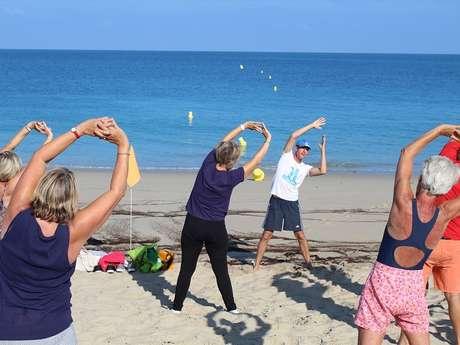 Réveil musculaire sur la plage