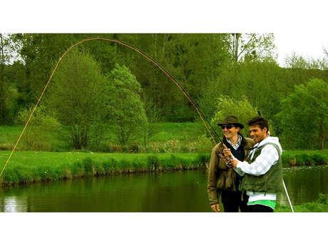 Stages pêche à la mouche au Moulin de Gémages