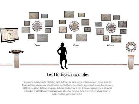 """Exposition """"Les Horloges des sables """" de Régis et Kalou"""