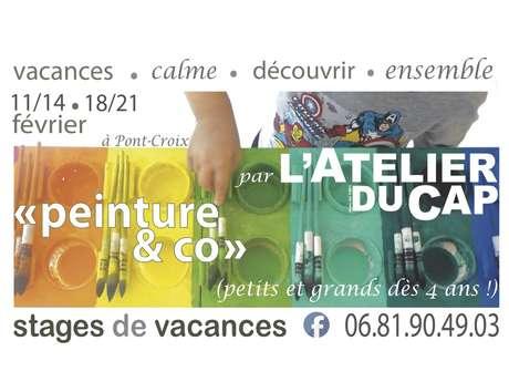 L'Atelier du Cap - Stage de Vacances : Découverte de l'Expression Libre (peinture, terre&co)