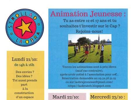 Activités jeunesse de l'Association Strollad la Obra - vacances de la Toussaint