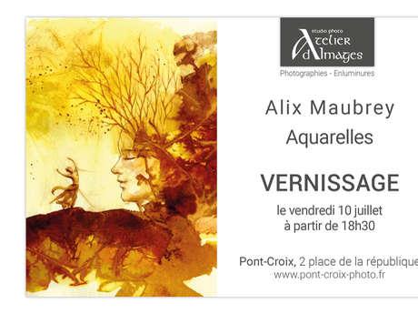 Exposition du mois de juillet - Alix Maubrey - aquarelles