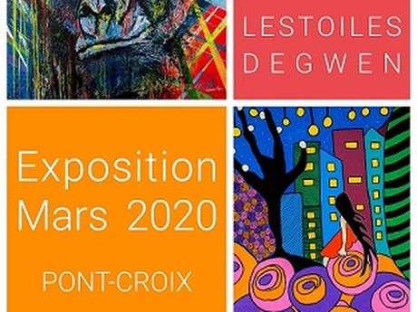 Exposition du mois de mars - peintures de Gwenaëlle Fouque