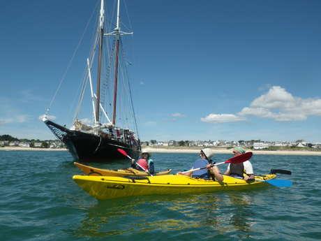 Balade de 2h en kayak de mer aux abords d'Audierne