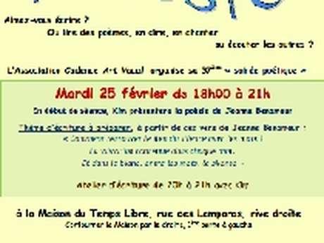 """CADENCE ART VOCAL : SOIREE POETIQUE ET ATELIER D'ECRITURE - """" COMMENT RETROUVER LE LIEN DU SILENCE AVEC LES MOTS ? ..."""""""
