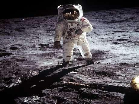 Tournage du 1er pas sur la lune
