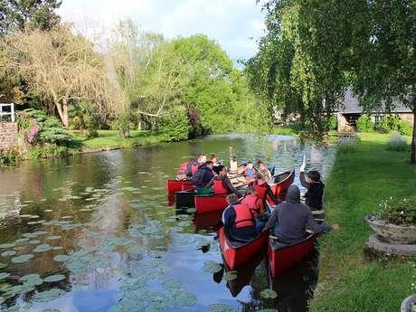 Visite guidée de Montfort-sur-Meu en canoë