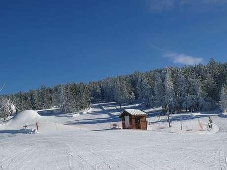 Ski alpin à l'espace nordique de Beille