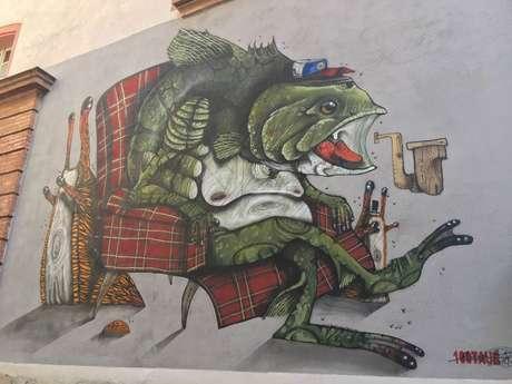 Street art in the rue Porte du Moustier