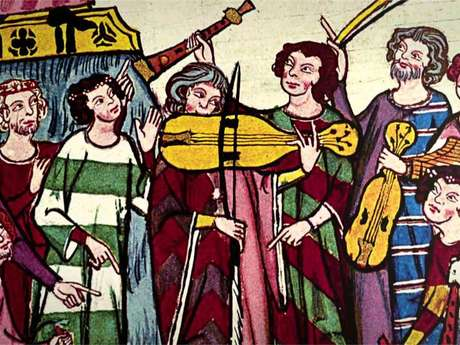 Visite musicale, des troubadours à Montréal de Sos !