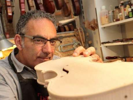 Stringed instrument maker Pascal Quinson