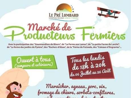 Marché de producteurs fermiers au  Pré Lombard