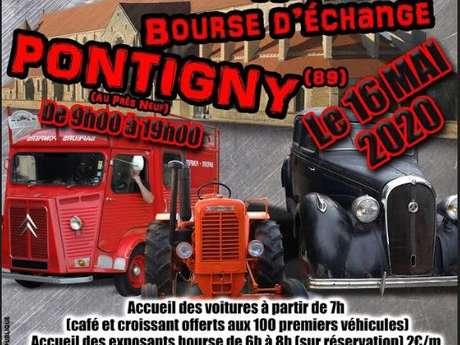 Exposition de voitures anciennes - Bourse d'échange à Pontigny