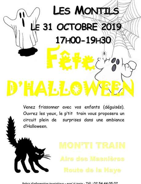 Fête d'halloween avec Mon'ti Train