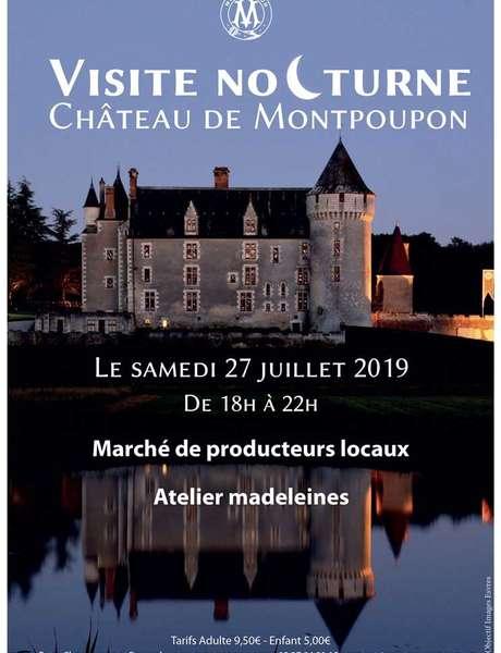Visite Nocturne et dégustations au Château de Montpoupon