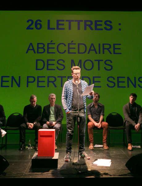 Spectacle d'ouverture 26 lettres : abécédaire des mots en perte de sens