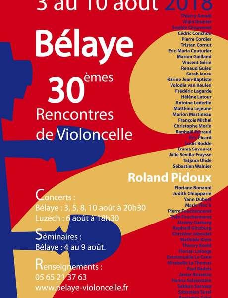 Concert de Bélaye: XXXèmes Rencontres de Violoncelle de Bélaye