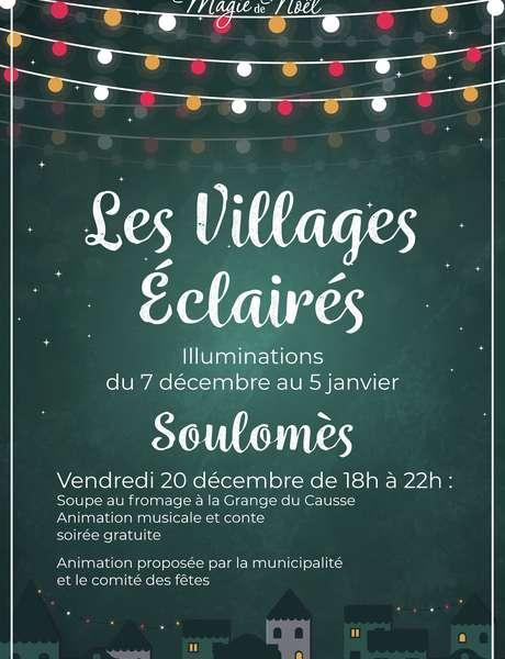 Illuminations de Noël à Soulomès