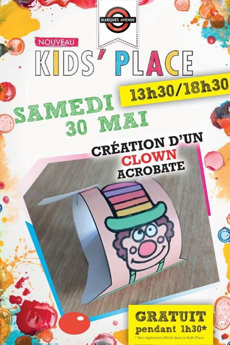 Annulation Marques Avenue Troyes - Kids'Place : Création d'un clown acrobate