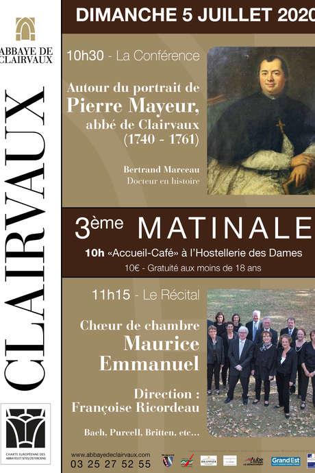 Les matinales de l'Abbaye de Clairvaux 2020