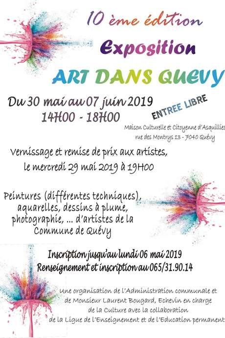 """10ème édition de l'exposition """"Arts dans Quévy"""""""