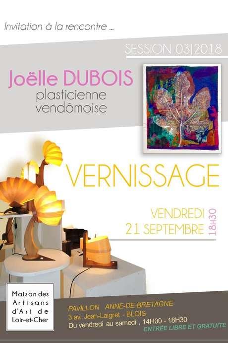 Vernissage de l'exposition de Joëlle Dubois