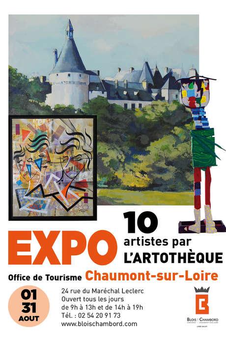 Exposition Arthotèque au BI de Chaumont-sur-Loire