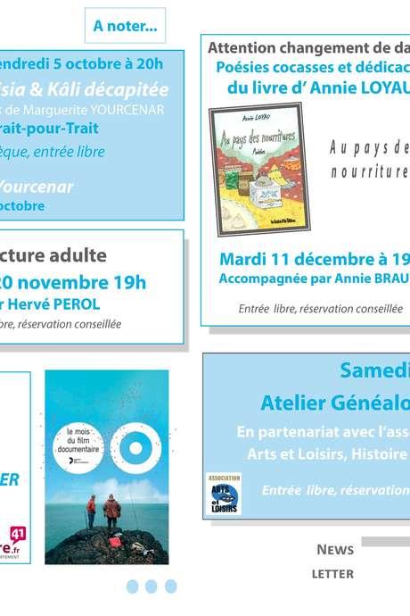 """Poésies cocasses et dédicaces du livre """"Au pays des nourritures"""" d'Annie Loyau"""