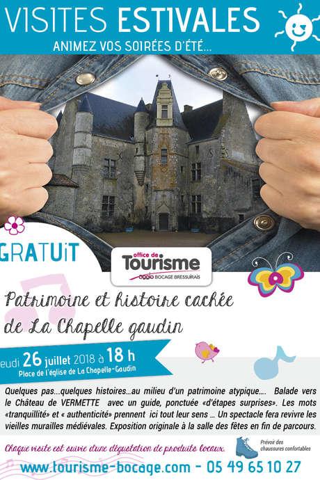 Visites estivales 2018 - Patrimoine et histoire cachée de la Chapelle Gaudin