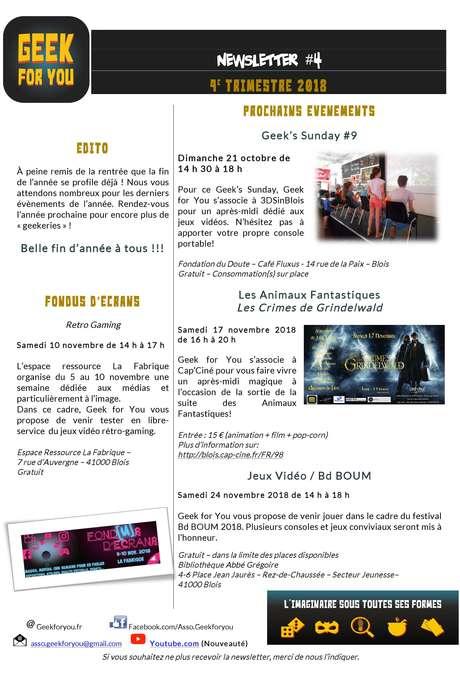 Geek'Sunday Jeux vidéo