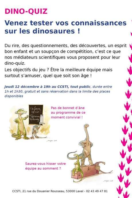 Animation : Dino-quiz