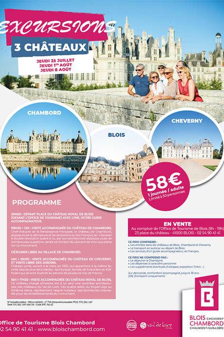 Excursion en bus pour Chambord, Cheverny et Blois
