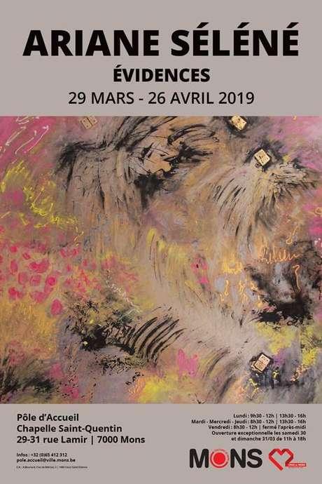 """Exposition """"Évidences"""" d'Ariane Séléné"""