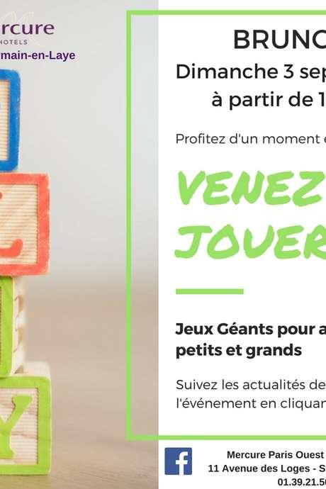 Brunch et jeux géants au Mercure Paris Ouest Saint Germain