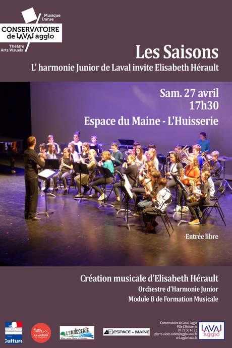 Concert : Les Saisons // L'Harmonie Junior de Laval invite Elisabeth Hérault