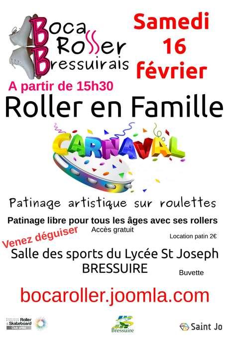Roller en famille spécial Carnaval