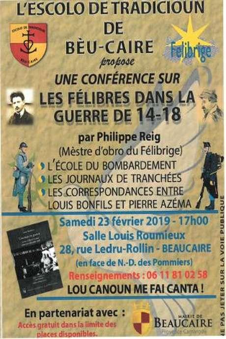 Conférence sur Les Félibres dans la Guerre de 14-18