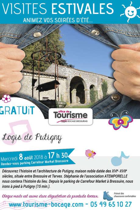 Visites estivales 2018 - Logis de Putigny - Terves