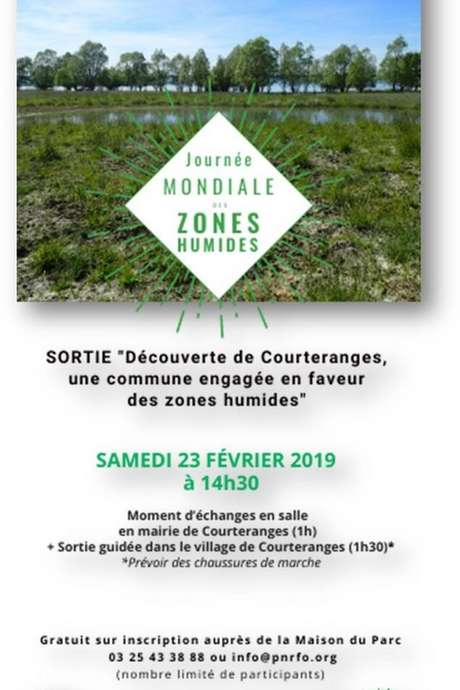 Sortie nature - Journée mondiale des zones humides : Courteranges, une commune engagée