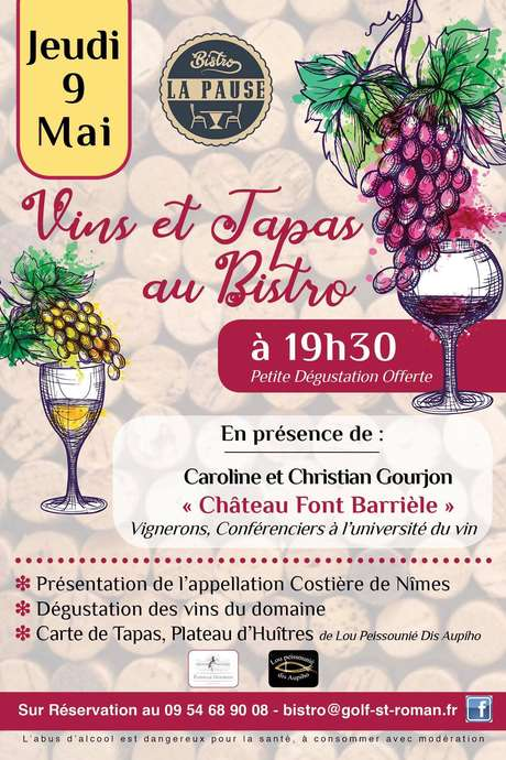 Soirée vins et tapas au Bistro La Pause