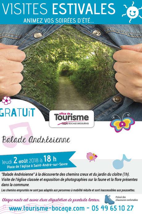 Visites estivales 2018 -  Balade andrésienne