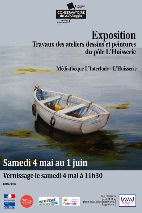 Exposition : Travaux des Ateliers Dessins et Peintures du Pôle de L'Huisserie