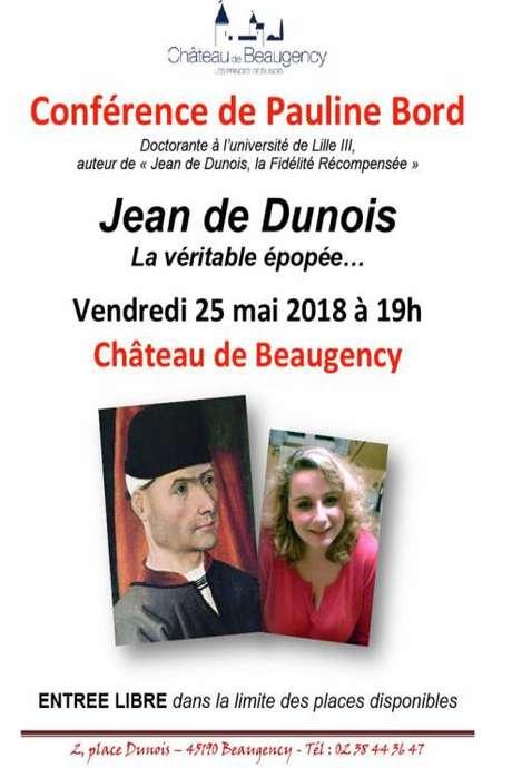 Conférence Jean de Dunois, la véritable épopée...