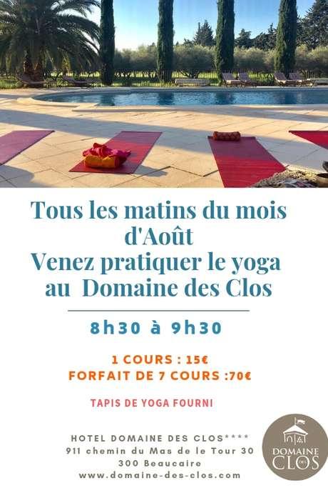Yoga au Domaine des Clos