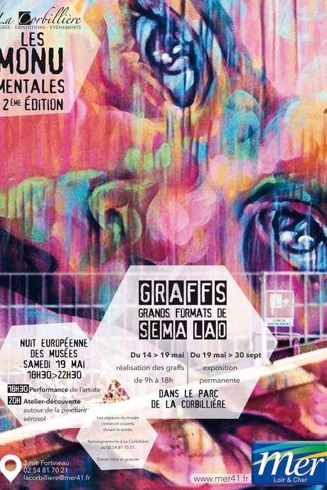 Exposition de graffs grands formats, par Sêma Lao