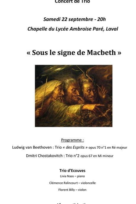 """Concert de Trio """"Sous le signe de MacBeth"""""""