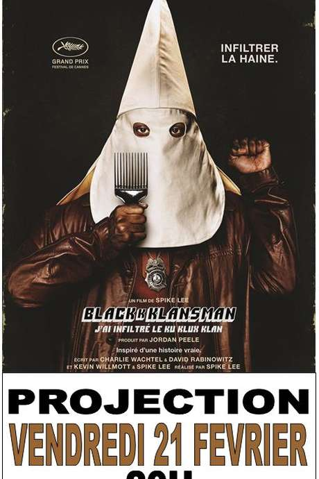 "Projection de film ""BlackkKlasman"""