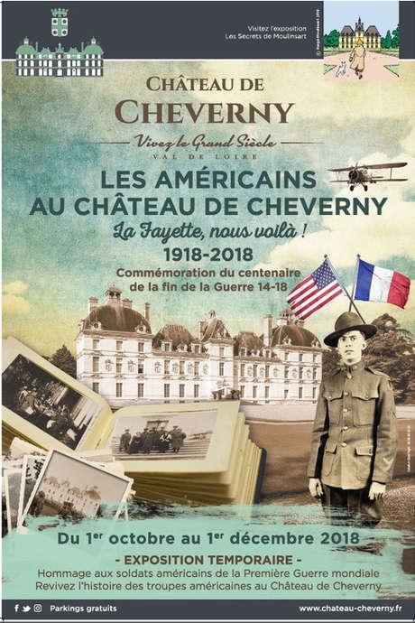 """Exposition """"Les Américains au Château de Cheverny"""" : 1918 - 2018"""
